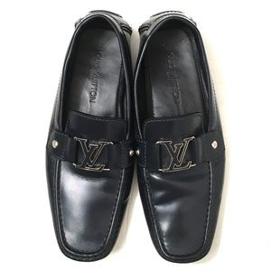 Louis Vuitton Mens Navy Monte Carlo Loafers